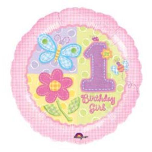 Hugs & Stitches 1. Születésnapi Számos Fólia Léggömb