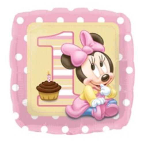 Minnie Egér - Minnie First Birthday Girl - Első Szülinapi Fólia Lufi