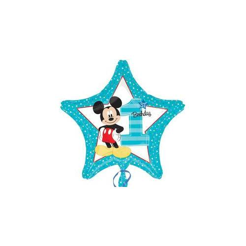 Első Szülinapi Mickey Miki Egér Mouse Csillag alakú lufi