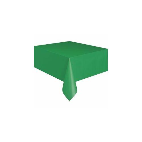 Zöld terítő, Emerald Green Műanyag Parti Asztalterítő - 137 Cm X 274 Cm