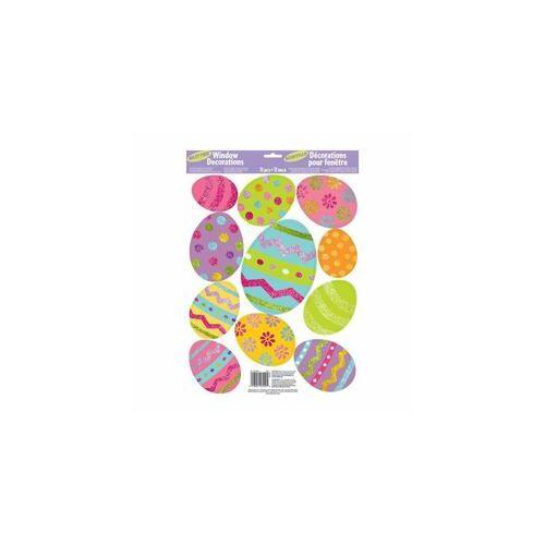 Húsvéti Tojások Glitteres Ablak Dekoráció - 11 db-os