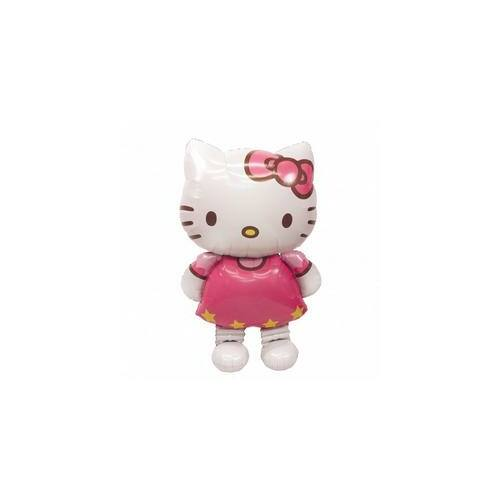 Lufi 127 cm magas, Hello Kitty Óriás Sétáló Fólia Lufi