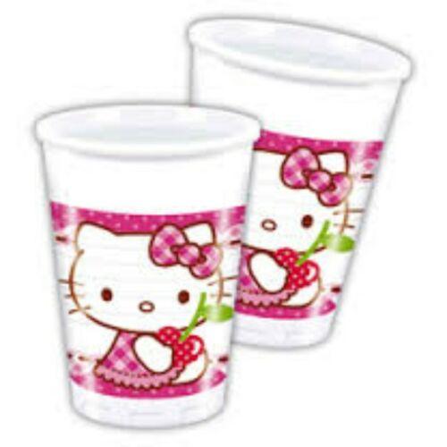 Pohár Hello Kitty Hearts - Szíves Parti Pohár - 200 ml, 8 db-os