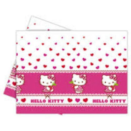 Terítő, Hello Kitty Hearts - Szíves Parti Asztalterítő - 180 cm x 120 cm
