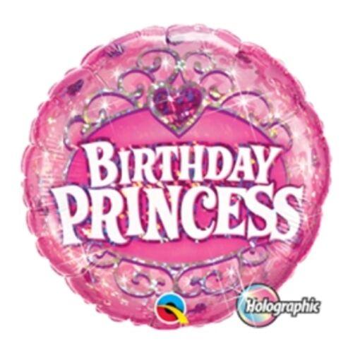 Lufi Héliumos, Hologramos, Birthday Princess Holografikus Szülinapi Fólia Lufi