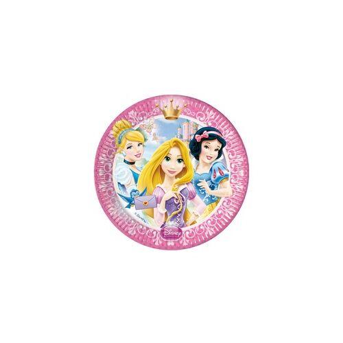Tányér, Princess Glamour - Hercegnők Parti Tányér - 20 cm, 8 db-os
