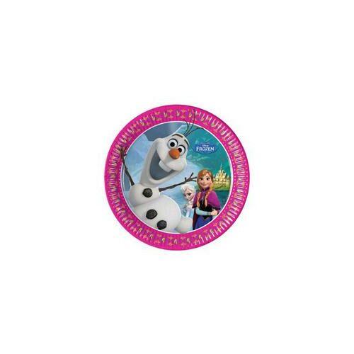 Tányér Frozen - Jégvarázs Parti Tányér - 20 Cm, 8 Db-Os