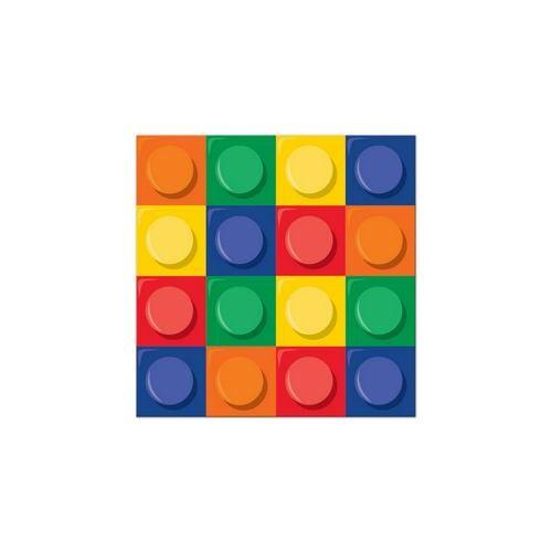Szalvéta, Block Party - Lego Parti Szalvéta - 16 Db-Os, 33 Cm X 33 Cm