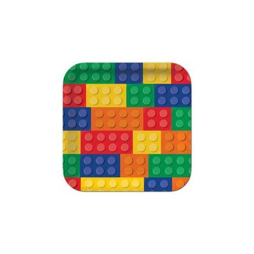 Tányér, Block Party - Lego Parti Tányér - 8 Db-Os, 27 Cm
