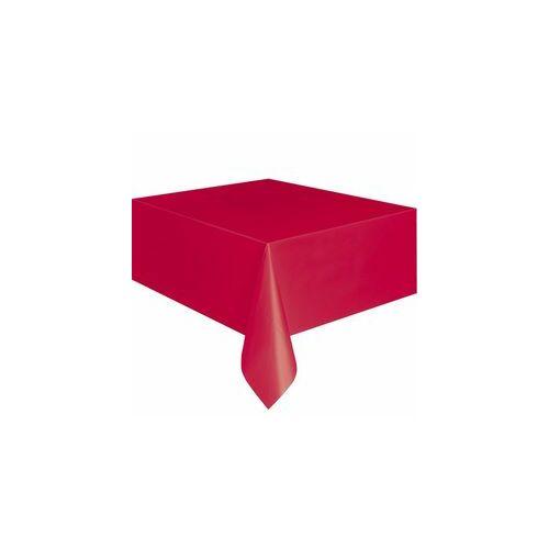Piros Terítő, Ruby Red Műanyag Parti Asztalterítő - 137 Cm X 274 Cm