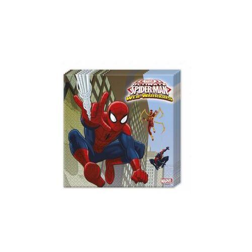 Pókember, Ultimate Spiderman Web-Warriors - Pókember Parti Szalvéta - 33 Cm X 33 Cm, 20 Db-Os