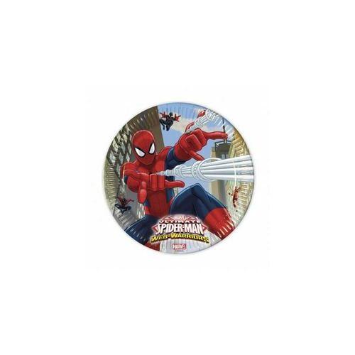 Ultimate Spiderman Web-Warriors - Pókember Parti Tányér - 23 Cm, 8 Db-Os