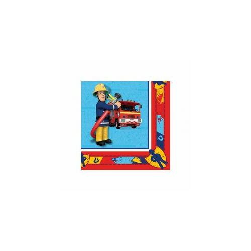 Szalvéta, Fireman Sam - Sam a Tűzoltó Parti Szalvéta - 33 cm x 33 cm, 20 db-os