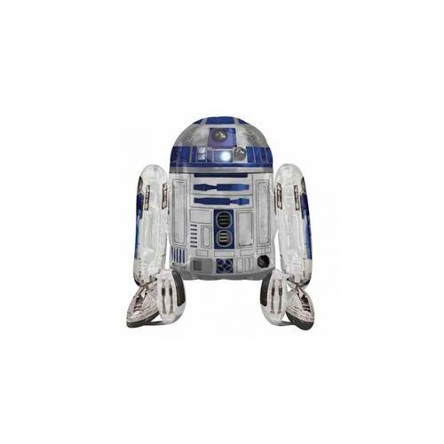 Sétáló lufi, Star Wars R2D2, 96 cm magas, Sétáló Lufi