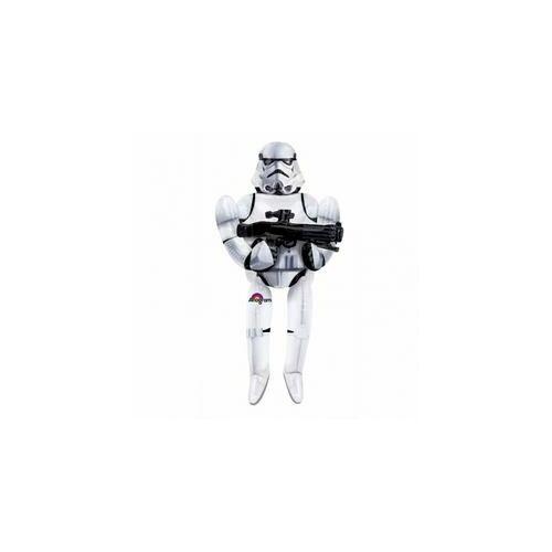 Sétáló lufi héliummal, Star Wars Stormtrooper, Rohamosztagos, 177 cm magas, Sétáló Lufi