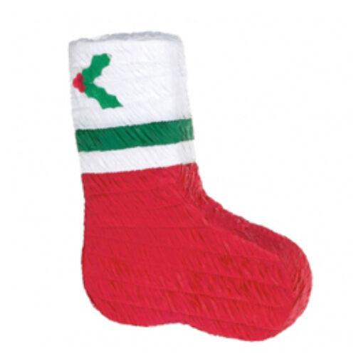 Mikulás Csizma Pinata Karácsonyra pináta ütővel lehet..
