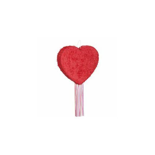 Piros Szív Pinata Pináta ütővel vagy...
