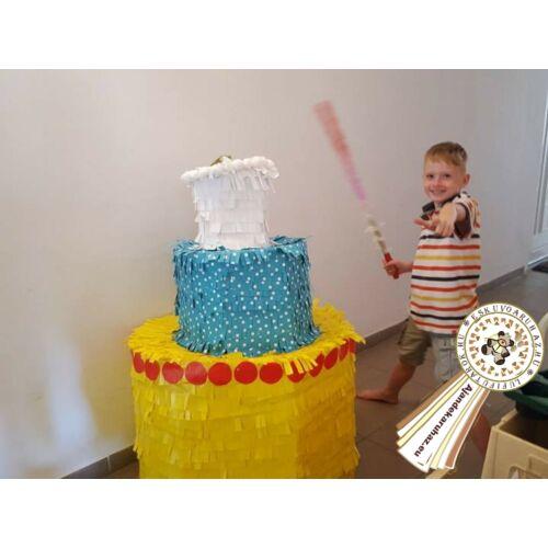 Óriási Torta Pinata játék Pináta ütővel lehet ..