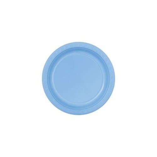 Kék- Babakék Műanyag Party Tányér
