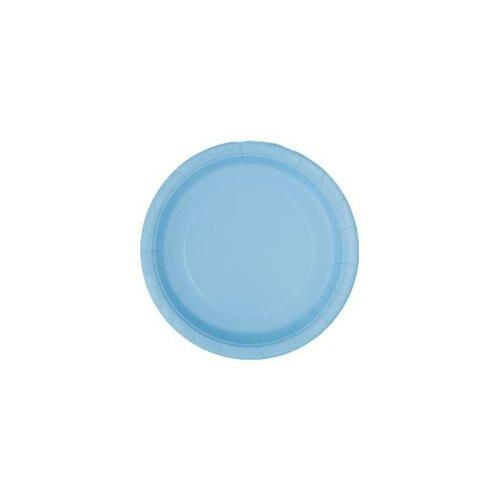 Kék- Babakék Papír Party Tányér