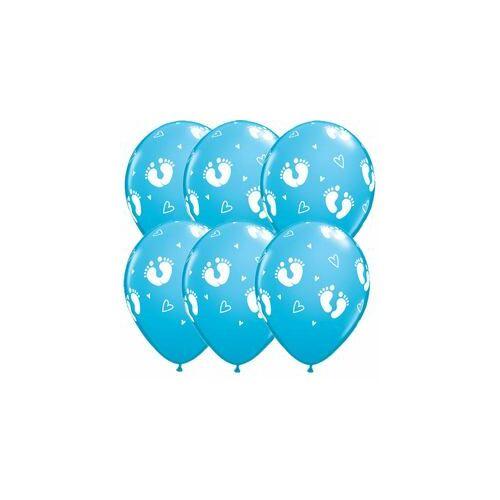 Baba születésre Baby Footprints And Hearts Robins Egg Blue Lufi