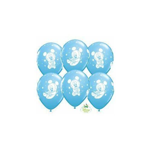 Disney Baby Miki egér  Mickey Stars Pale Blue Léggömbök