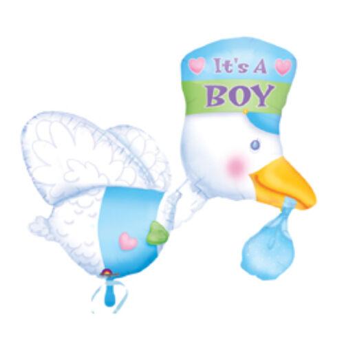 Babaszületésre t Is A Boy - Bundle Of Joy Stork - Super Shape Fólia Lufi