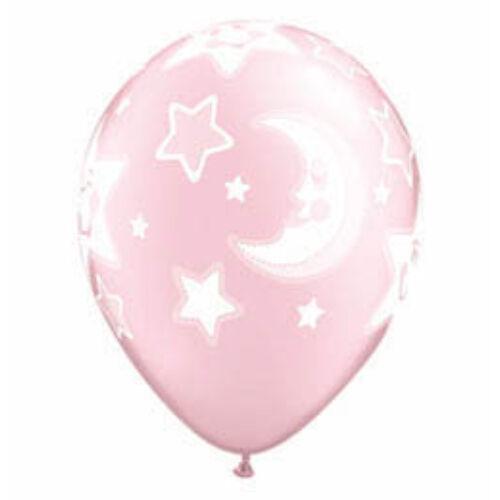 28 cm es Baby Moon and Stars Pearl Pink Lufi Babaszületésre (25 db/csomag)