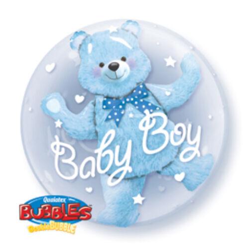 Baby Blue Bear Double Bubble Lufi Babaszületésre