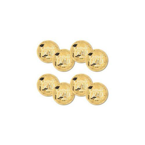 Aranyszínű Ballagásra tányérok The Adventure Begins Arany színű - 27 cm, 8 db-os