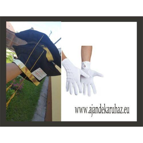Diplomaosztó kalap ballagásra + kesztyűvel
