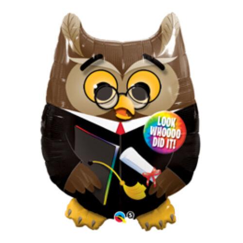 Bagoly - Grad Owl Ballagási Fólia Lufi
