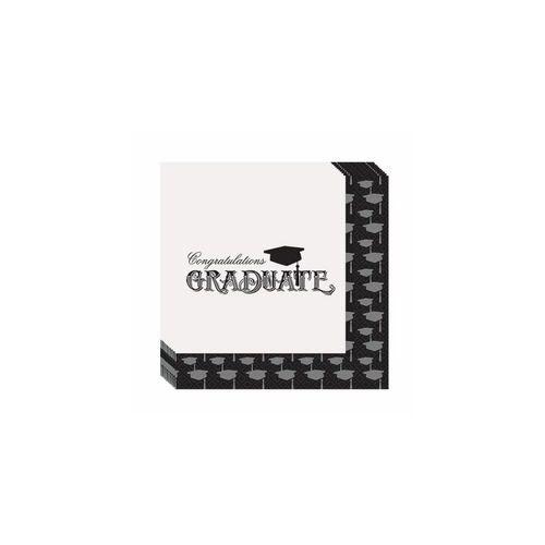 Ballagási Szalvéta - Congratulations Graduate Felirattal - 20 db-os, 33 cm x 33 cm