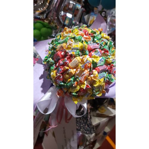 Cukorka gömb csokor