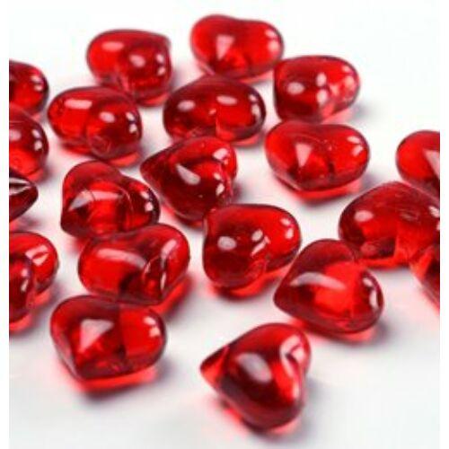 Piros Szív Alakú Kristály Hatású Dekorkő