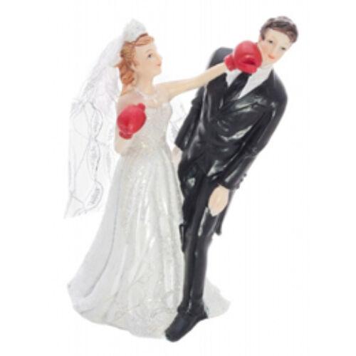 Bokszoló Menyasszony Esküvői Pár Tortadísz