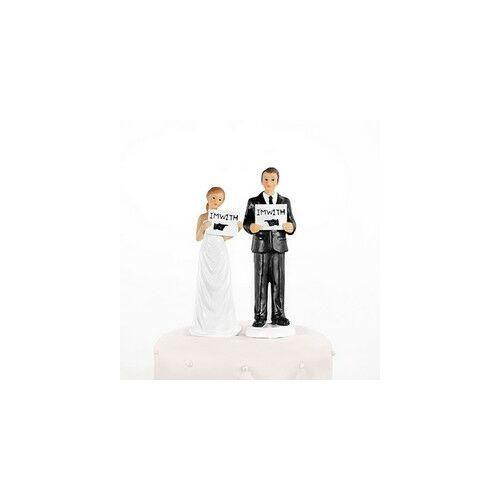 Vele Vagyok Ifjú Pár Esküvői Tortadísz