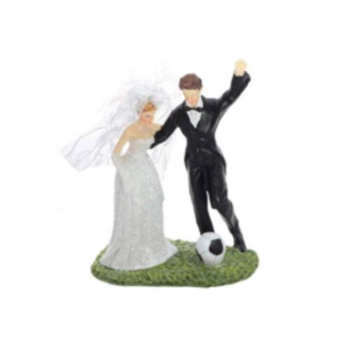 Focizó Esküvői Pár Tortadísz