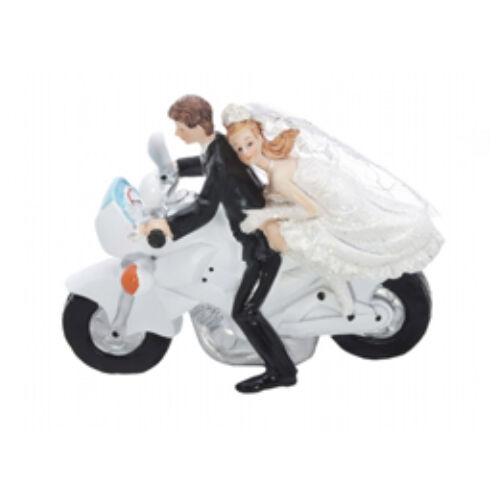 GYorsasági motoron, Esküvői Pár Tortadísz