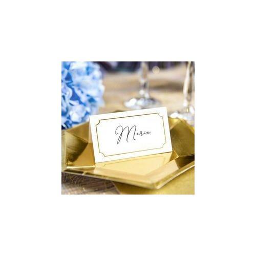 Esküvői Ültetőkártyák fémes Arany Kerettel
