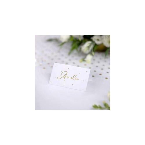 Esküvői Ültetőkártyák Fémes Arany díszítéssel