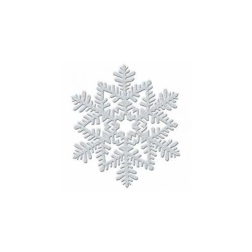 Glitteres Hópehely Dekorációk