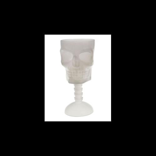 Sötétben világító koponyás kehely/ pohár