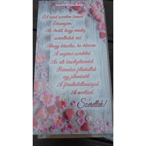 Nagy idézetes tábla Ezt mind szeretem benned Édesanyám