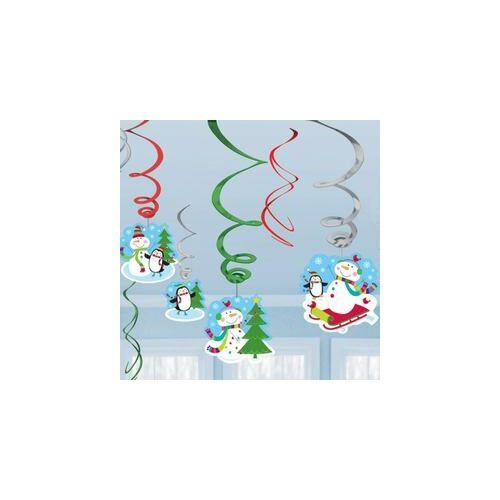 Joyful Snowman Spirális Függő Dekorációk