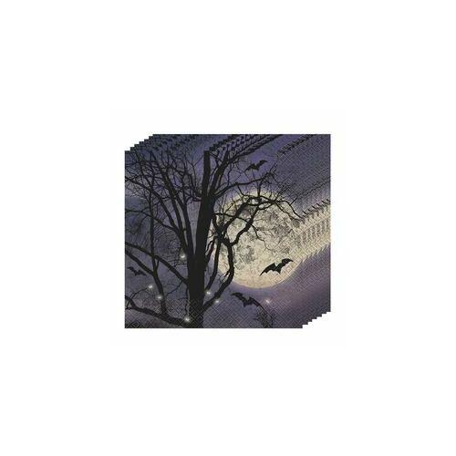 Szalvéta-Kísérteties Éjszaka Halloween Parti Szalvéta - 33 cm x 33 cm, 16 db-os