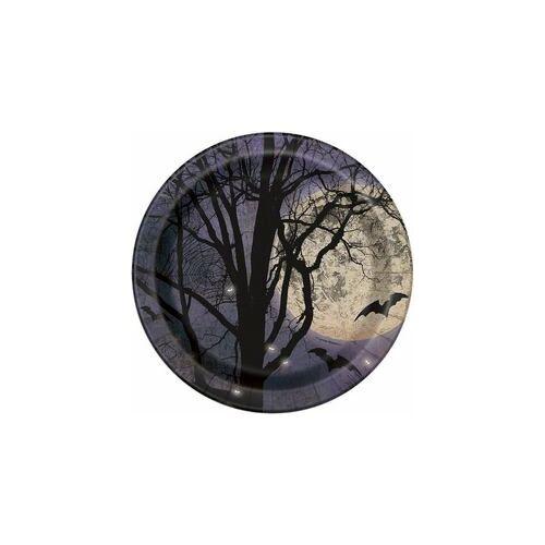 Tányér- Kísérteties Éjszaka Halloween Parti Tányér - 22 Cm, 8 Db-Os