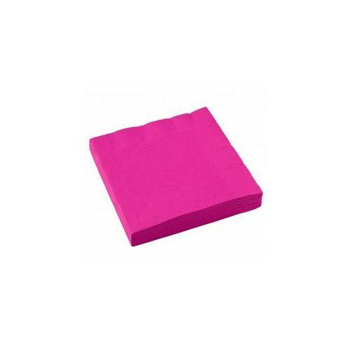 257ddcfa3d Rózsaszín- Magenta Pink Parti Szalvéta, 20 db - EGYSZÍNŰ PARTY ...