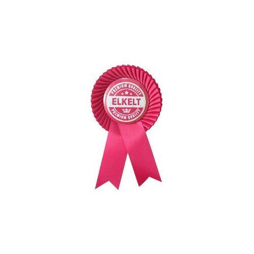 Magenta Szalagos Rózsaszín-Fehér Elkelt Feliratú Kitűző Lánybúcsúra