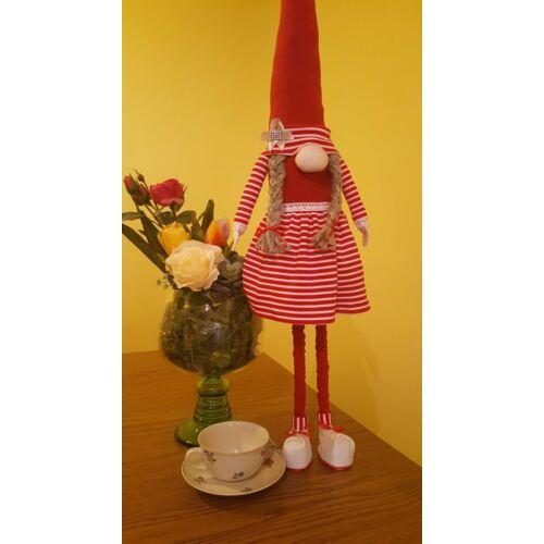 Manó lány, piros ruhában 80 cm